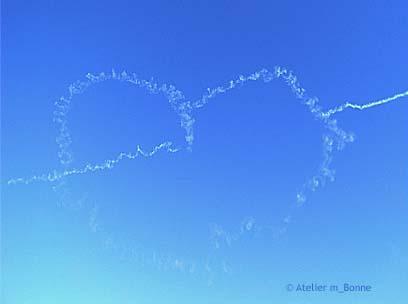 航空祭 – ブルーインパルスを見て