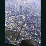 次世代の東京電波塔。東京スカイツリーの建設現場上空です。(2009年11月現在)